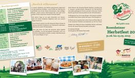 Reservierungsflyer INN Gastro Herbstfest 2019 außen